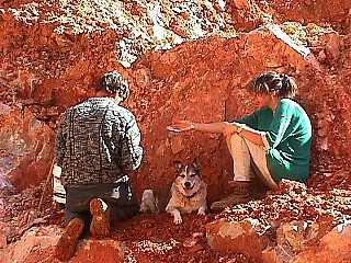 digging crystals